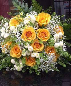 Hoa cầm tay cô dâu Thành Đôi