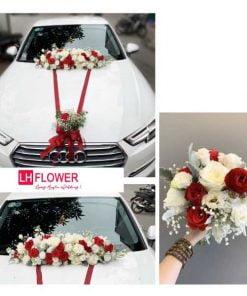 hoa cầm tay cô dâu đơn giản
